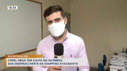 Copel nega ter culpa no incêndio que destruiu parte de shopping atacadista