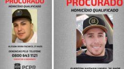 Polícia pede ajuda para encontrar irmãos foragidos por assassinato no Paraná