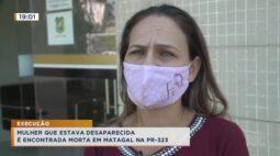 Mulher que estava desaparecida é encontrada morta em matagal na PR 323