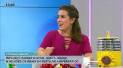 Influenciadora digital gasta quase R$ 6 milhões em festa de aniversário