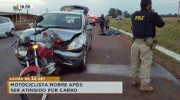 Motociclista morre após ser atingido por carro na BR-467
