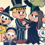 Turma da Mônica se fantasia de A Família Addams para o Dia das Bruxas