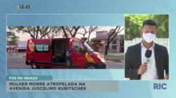 Mulher morre atropelada na avenida Juscelino Kubitschek