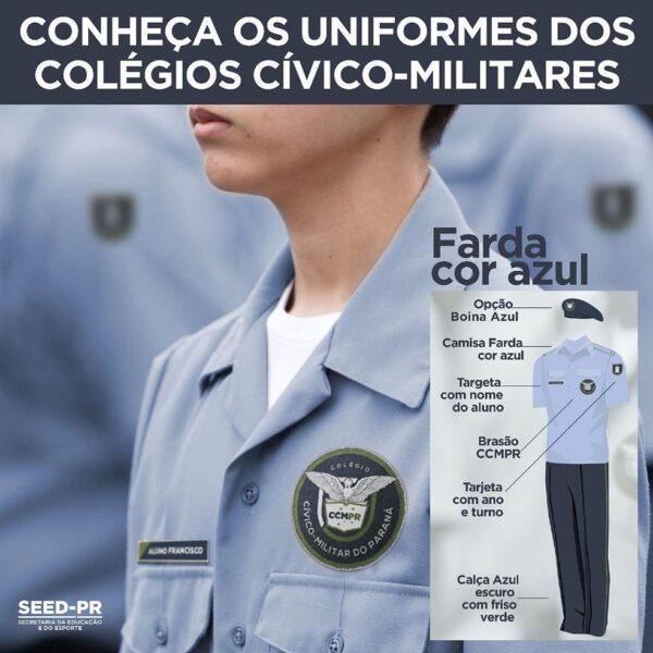 uniforme colegios civico militares
