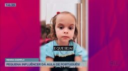 Pequena influêncer dá aula de português