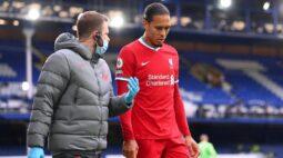 """Klopp lamenta ausência de Van Dijk no Liverpool: """"Todos os times sentiriam falta dele"""""""