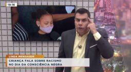 Criança fala sobre racismo no dia da consciência negra