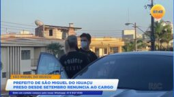 Prefeito de São Miguel do Iguaçu, preso desde setembro, renunciou ao cargo