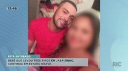 Bebê que levou três tiros em Jataizinho continua em estado grave