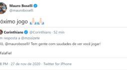 Boselli revela que pode voltar no próximo jogo do Corinthians