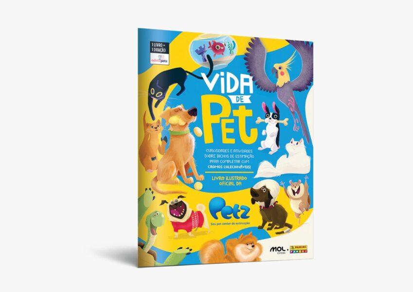 Petz em parceria com a editora Mol lança álbum de figurinhas animal
