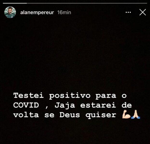 Alan Empereur testa positivo para covid-19 e aumenta lista de casos no Palmeiras