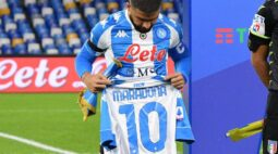 Com homenagens a Maradona, Napoli goleia Roma pelo Campeonato Italiano