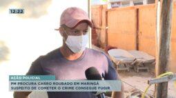 Polícia Militar procura carro roubado em Maringá e suspeito conseguiu fugir após o crime