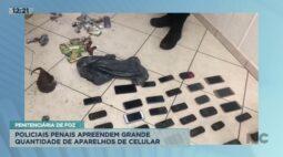 Policiais apreendem grande quantidade de aparelhos de celular na penitenciária de Foz do Iguaçu