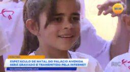 Espetáculo de natal do palácio avenida será gravado e transmitido pela internet