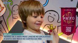 Criança de 3 anos pede lanche no App de delivery, e gasta 400 reais no cartão da mãe