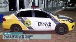 Filho é detido após agredir a própria mãe de 65 anos em Cascavel