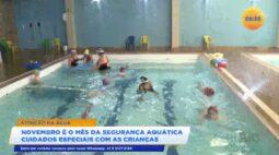 Novembro é o mês da segurança aquática cuidados especiais com as crianças
