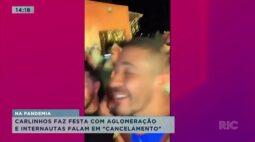 """Na pandemia Carlinhos Maia faz festa com aglomeração e internautas falam em """"cancelamento"""""""