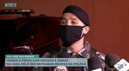 Homem é flagrado com drogas, armas e farda policial na Região Metropolitana de Curitiba