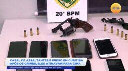 Casal de assaltantes é preso em Curitiba após os crimes, eles atiravam para cima
