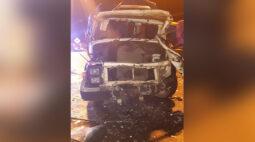 Caminhoneiro foge depois de ser resgatado em acidente no interior do Paraná