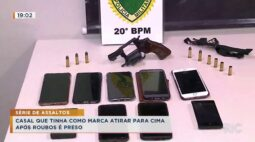 Série de assaltos casal que tinha como marca atirar para cima  após roubos é preso