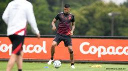 Athletico encerra preparação para encarar o Palmeiras