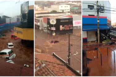 Veja vídeos da chuva em São Carlos, imagens são impressionantes