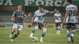Coritiba perde para o Corinthians e acumula 4 jogos sem vencer