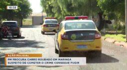 PM procura carro roubado em Maringá suspeito de cometer o crime conseguiu fugir