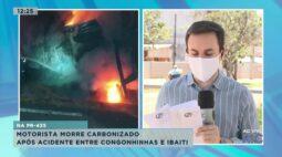 Motorista morre carbonizado depois de acidente entre Congonhinhas e Ibaiti