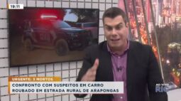 Confronto com suspeitos em carro roubado entre Rolândia e Arapongas