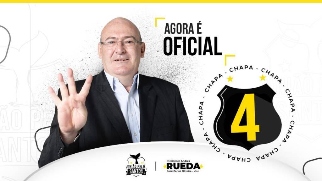 Andrés Rueda oficializa candidatura à presidência do Santos