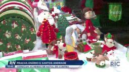 Praças Osório e Santos Andrade começam as feiras de natal de Curitiba