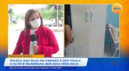 Polícia nas ruas do Paraná e São Paulo o alvo é quadrilha que adultera soja