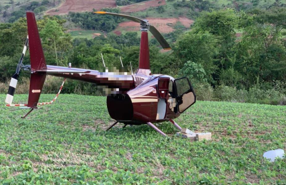 Helicóptero carregado com cocaína é apreendido no interior do Paraná