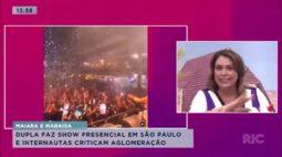 Maiara e Maraisa fazem show presencial em São Paulo e internautas criticam aglomeração