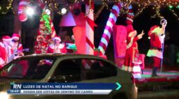 Luzes de natal no Barigui podem ser vistas dentro do carro
