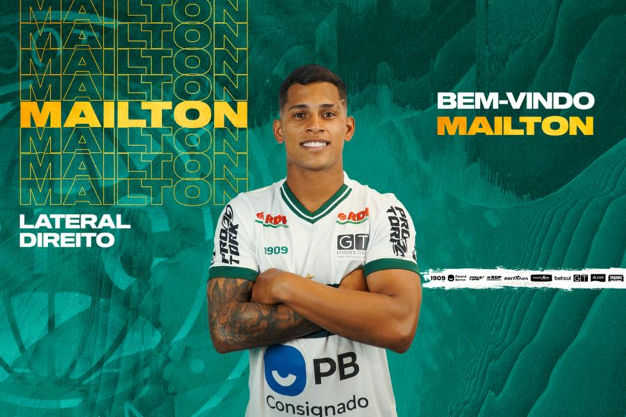 Coritiba confirma Mailton como novo reforço