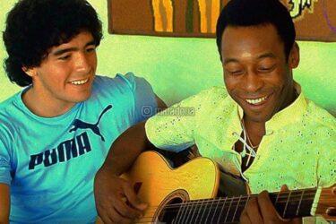 """Pelé lamenta a morte de Diego Maradona: """"Espero que possamos jogar bola juntos no céu"""""""