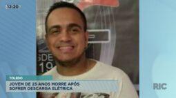 Jovem de 23 anos morre após sofrer descarga elétrica em Toledo