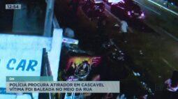 Polícia procura criminoso que atirou em homem no meio da rua em Cascavel