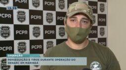 Perseguição e tiros durante operação do DENARC em Maringá