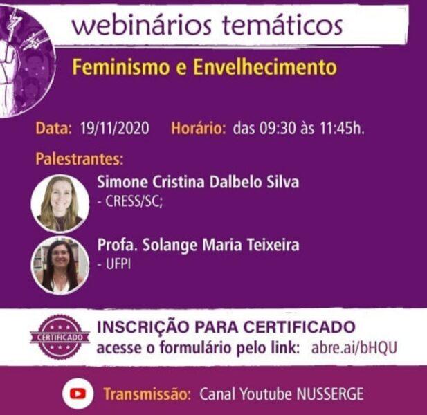 Feminismo e velhice são temas de webinário gratuito nesta quinta-feira