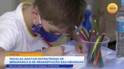 Escolas adotam estratégias de segurança e de readaptação das crianças