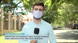 Prefeitura de Maringá limpa alguns bairros para tentar evitar uma nova epidemia
