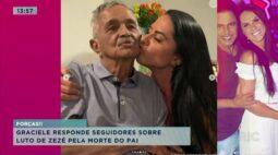 Graciele responde seguidores sobre luto de Zezé pela morte do pai