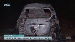 Suspeito de assassinato é preso pela polícia em Maringá.